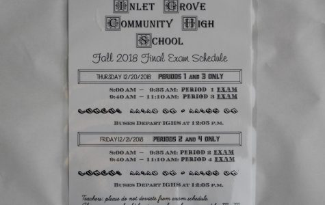 Photo of the day: Finals bell schedule