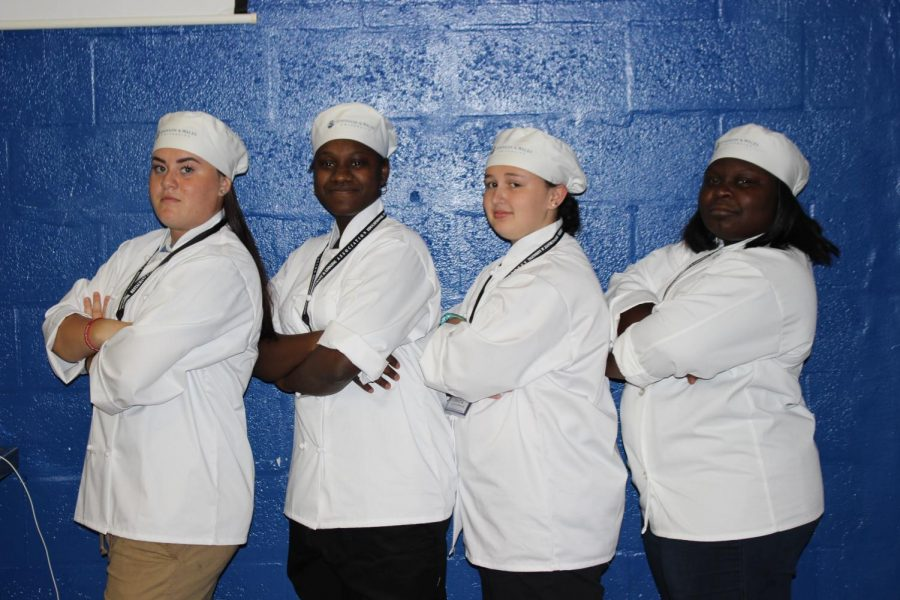 THE CLOCK IS TICKING: Culinary teacher Chef Newman has selected Gabriella McDermott, Tia Daniel, Dakota Sands,  and Dayshawnie Poe as the four Culinary students who will be competing in this year Culinary Olympics in Orlando on March 1st.