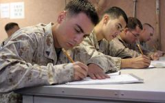 IS IT WORTH IT: This is a picture of an example of how the ASVAB testing is taken.