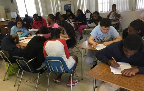 STUDY MATH FOR A BETTER PATH: In the math department, Saturday tutoring has been flooded with students the last two weekends with a total of 83 students on the April 27, and 53 the following weekend.