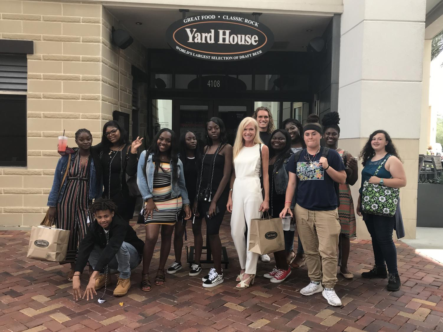 I'M FULL: Chef Newman took her certified culinary seniors to lunch at the Yard House on Thursday May, 2.