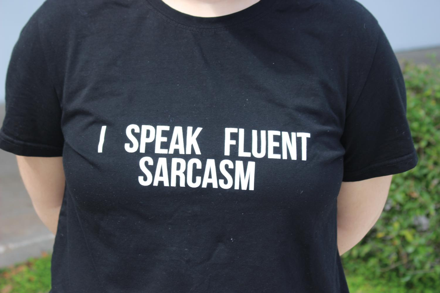 LAUGH OUT LOUD: Student wears humorous shirt on the first day of school dress down.