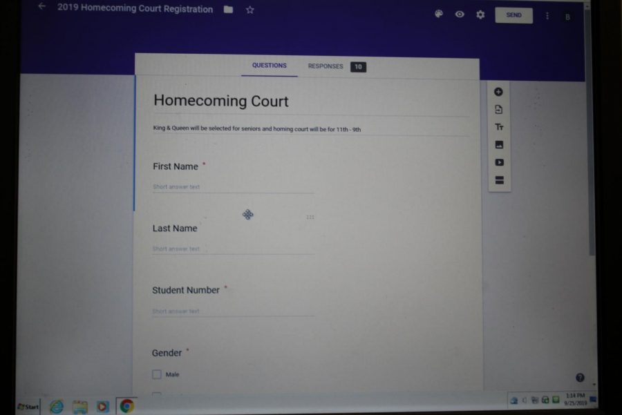 CHOOSE YOUR COURT: Students who want to run for Homecoming court, now have have the opportunity.