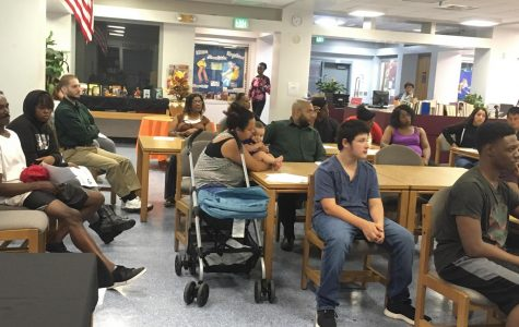 MATH NIGHT: Parents were informed of the Math Testing Calendar, Mandatory and Elective Math Classes to graduate as well as to graduate with a scholar diploma.
