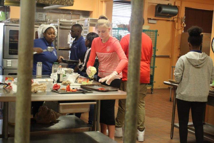 TEACHER APPRECIATION: Students attending the Culinary Academy have started cooking lunch for teachers.