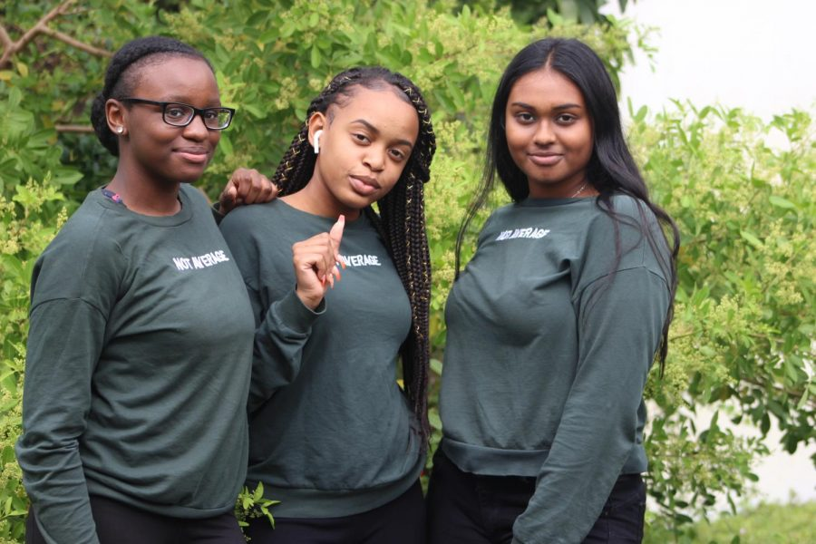 TWINNY TWIN TWIN: Today is the second day of spirit week where students and staff participated by wearing the same or similar outfit as a friend. There were also a few triplets.   Participants: Fedelinie Montrose, Cramyolee Rene, and Jada Prashad juniors all in the Medical Academy.