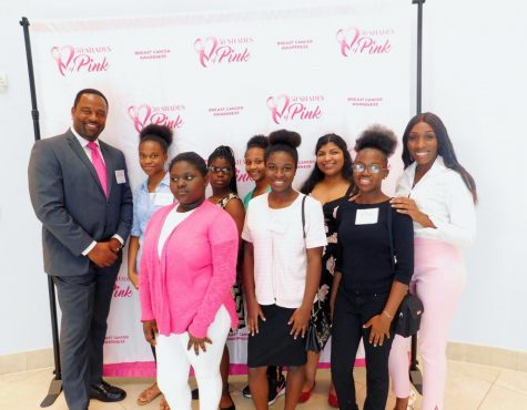 AMBITION : Students from the Goal Chasers Club were invited to an event on Oct.12 that was dedicated to Breast Cancer Month.