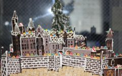 GINGERBREAD LAND: Mr. Lambaz  students designed and finished their gingerbread house in honor of Chef Norbert Goldner.