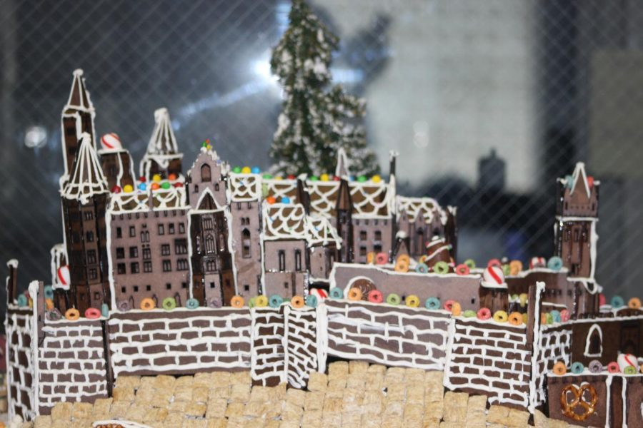 GINGERBREAD+LAND%3A+Mr.+Lambaz++students+designed+and+finished+their+gingerbread+house+in+honor+of+Chef+Norbert+Goldner.
