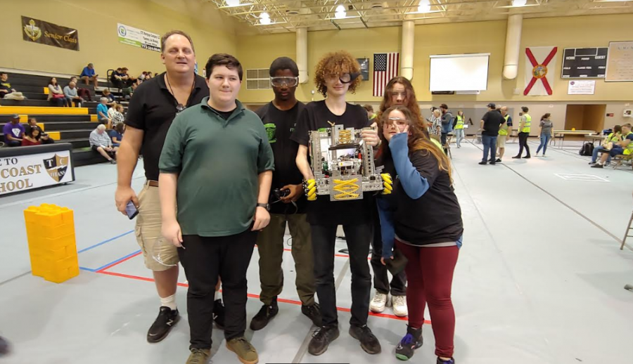 ROBOTIC GENUSIES: The Inlet Grove Robotics Team participated in a tournament called the