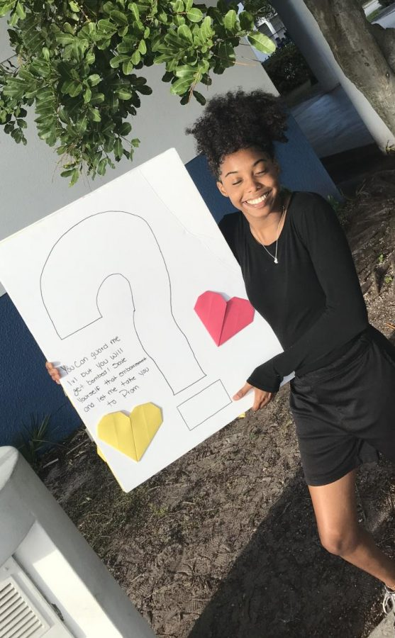 A DATE FOR PROM: Tuesday March 10, Kristha Zapata-Palacios received a prom proposal from Maurice Smith, saying  ''You can guard me 1v1 but you will get bombed! Save yourself that embarrassment and let me take you to prom'' and said YES!