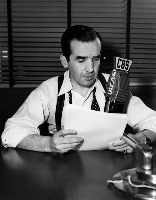 "Edward R. Murrow. He advanced many strategies associated with newsgathering for broadcast. Murrow's decency, and desire to go up against the ""powers that be"" was the peak of his career. In his time he was a big influence to the public."