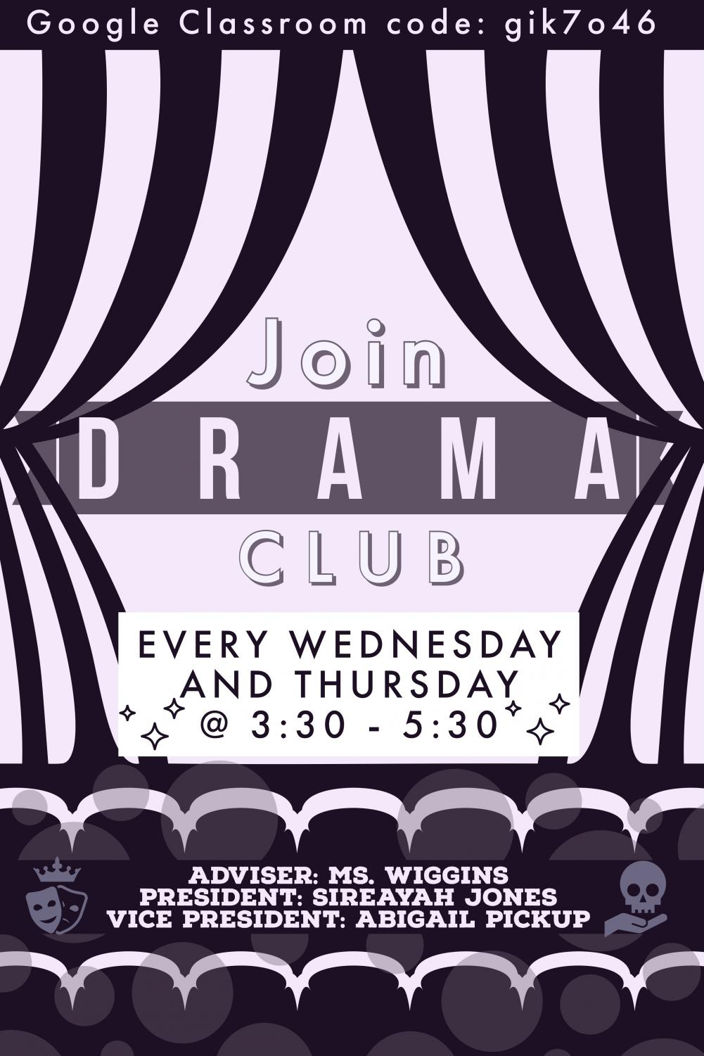 TO BE OR NOT TO BE: Despite quarantine, the Drama Club continues. They are seeking for new members.