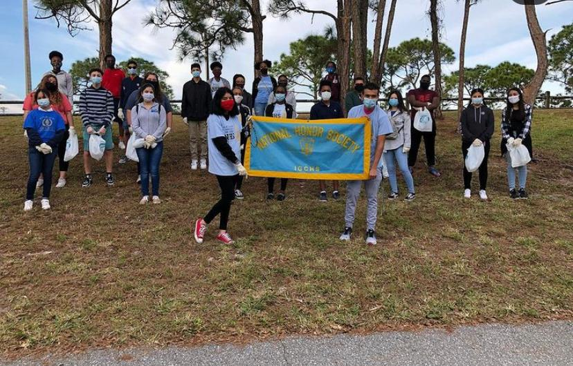 Okeeheelee Park: On 1/16/2020, The National Honors society club participated in the Okeeheelee Park clean up.