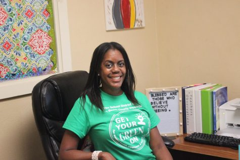 #GETYOURGREENON: Thursday, May 20 is the official day to wear green to raise awareness about mental health. Hurricanes staff began showing their support days in advance, with Assistant Principal Mrs. Banks taking the lead.