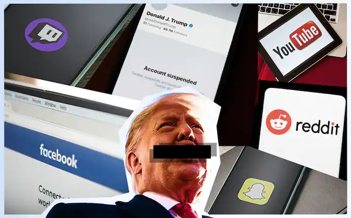 BANNED: The 45th U.S. President Trump is banned from several social media platforms, permanently.