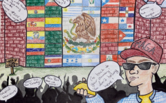 WRITER AND ARTIST: Ms. Goldstein assigned her students to write a satire story. Kiara Martinez deftly commented on racism.