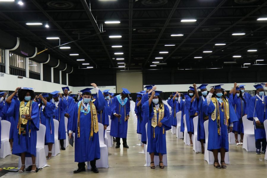 ONCE A HURRICANE ALWAYS A HURRICANE: Despite this untraditional year, the class of 2021 managed to complete it with excellency. As everyone gathered at the South Florida Fair Grounds on May 17 to witness the success of the graduates, tears, smiles and hugs were shared among students, friends, families and staff.
