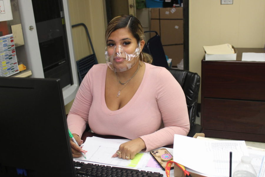 NEW ADDITION: Ms. Gege Hernandez is the new face of the main office.