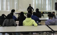 SAFETY FIRST: The Riviera Beach Police came to educate students on their field of work.